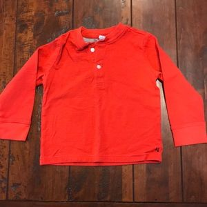 Janie and jack 2t red Henley